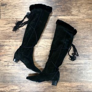 Saint Laurent Tall Suede Boots